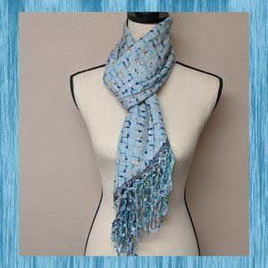 COLLECTION XIIX Sky Blue Country Road Wrap Scarf